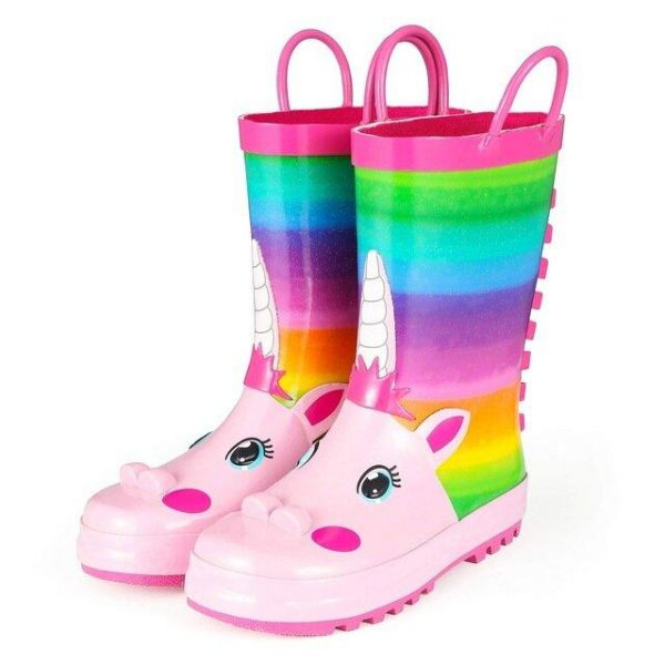 ankle boots unicorn bow in sky