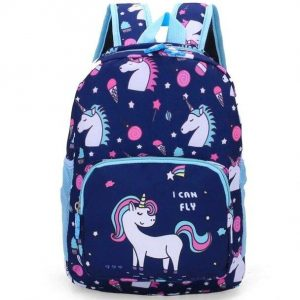 backpack school unicorn blue not dear