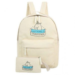 backpack unicorn beige buy