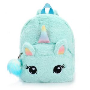 backpack unicorn fur green not dear