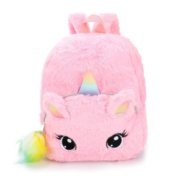 backpack unicorn fur pink at sell