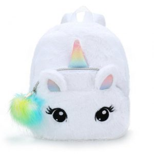 backpack unicorn fur white buy