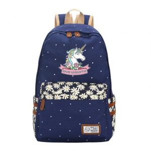 backpack unicorn love unicorn green pastel not dear