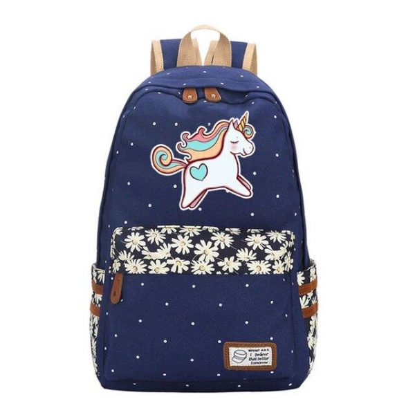 backpack unicorn multicolored green pastel supply school unicorn