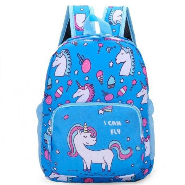 backpack unicorn school blue at sell
