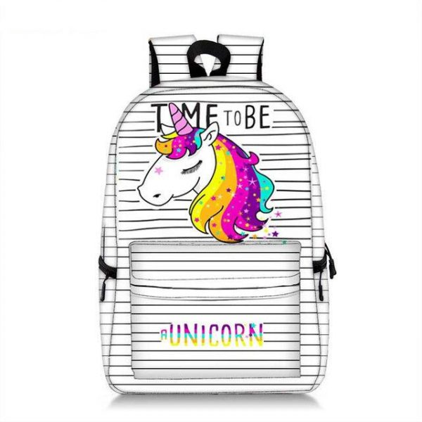 bag at back unicorn school time to be at unicorn not dear