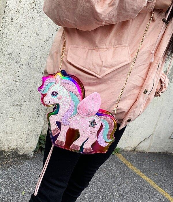 bag at hand unicorn bow in sky price