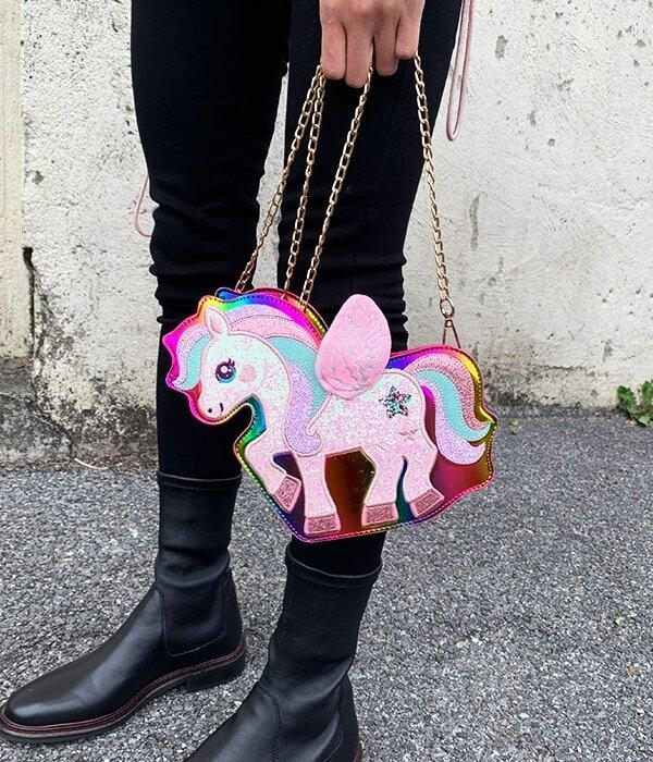 bag at hand unicorn bow in sky unicorn toys store