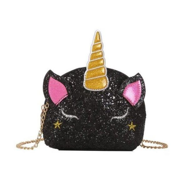 bag at hand unicorn sparkling black bag at hand unicorn