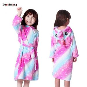 bathrobe girl unicorn 11 years old at sell