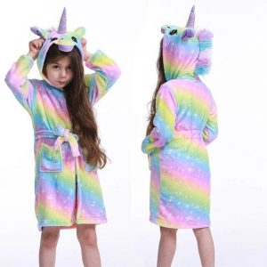 bathrobe of bath unicorn girl 11 years