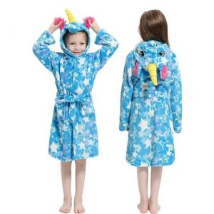 bathrobe unicorn girl blue 11 years old buy