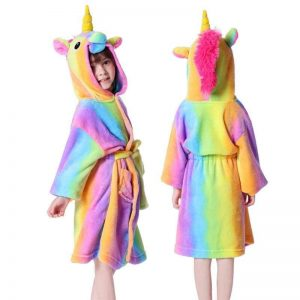 bathrobe unicorn girl bow in sky 12 years at sell