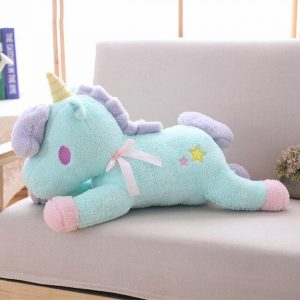 beautiful plush unicorn blue 55 cm plush unicorn