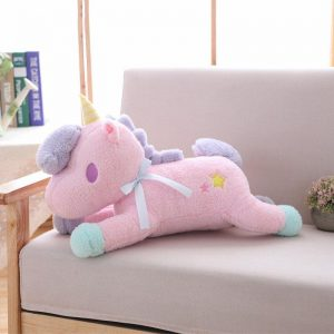 beautiful plush unicorn pink 55 cm buy