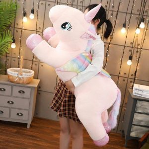 big unicorn in plush 1 meter white buy