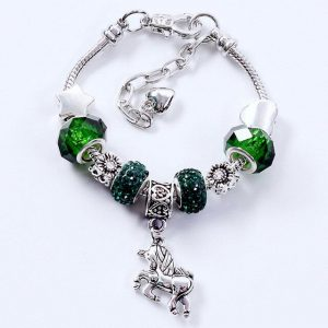 bracelet unicorn green 20 cm price