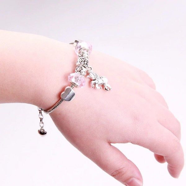 bracelet unicorn pink 20 cm buy