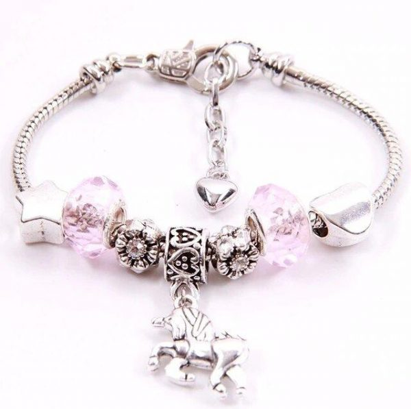 bracelet unicorn pink 20 cm not dear