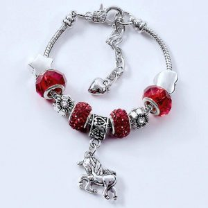 bracelet unicorn red 20 cm at sell