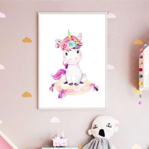 canvas baby unicorn 50x70cm unicorn toys store