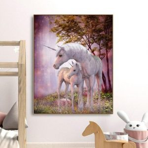 canvas family unicorn 72x90cm at sell