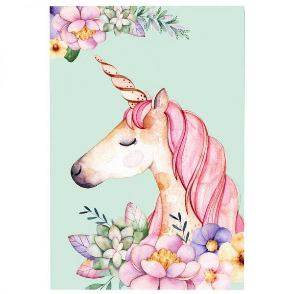 canvas head of unicorn 40x50cm at sell