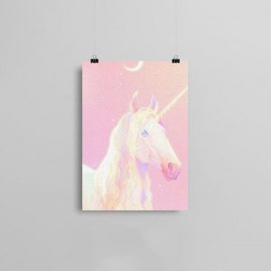 canvas head unicorn 57x80cm at sell