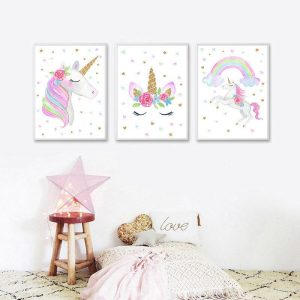 canvas of background unicorn 70x100cm unicorn of profile unicorn toys store