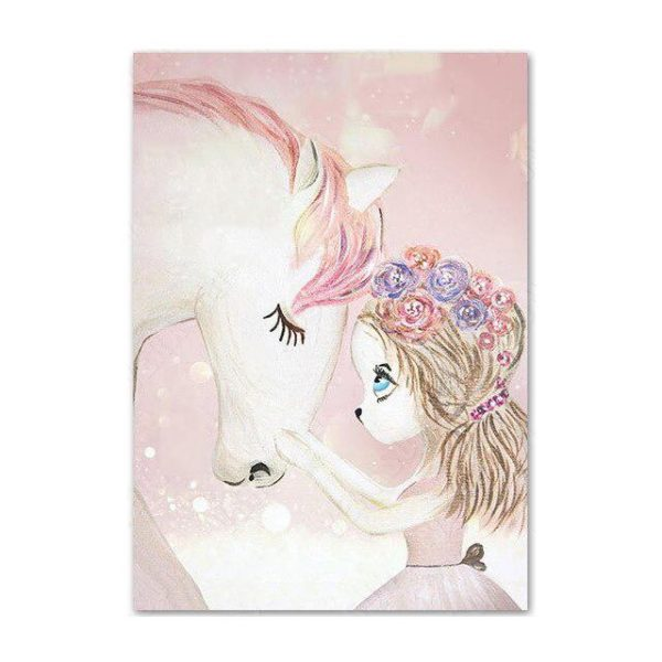 canvas princess unicorn 50x70cm canvas unicorn