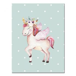 canvas queen unicorn 15x20cm canvas unicorn