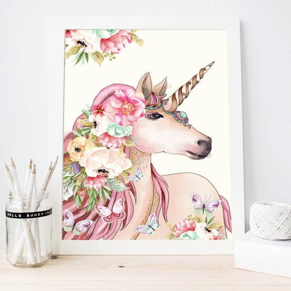 canvas symbol unicorn 50x75cm at sell