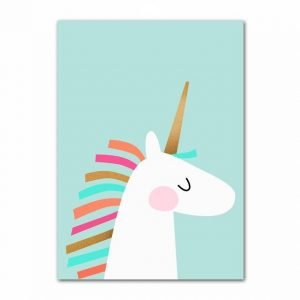 canvas unicorn 2d 60x100cm unicorn toys store