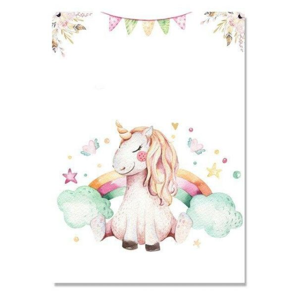 canvas unicorn 40x50cm unicorn seated bow in sky at sell