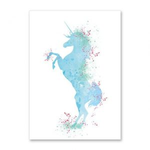 canvas unicorn art a4 21x30cm not dear