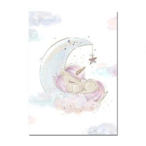 canvas unicorn asleep 60x100cm not dear