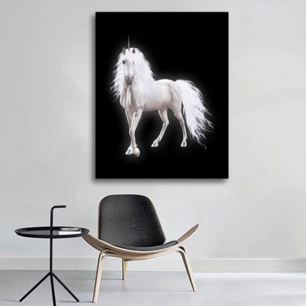 canvas unicorn black 72x90cm unicorn toys store