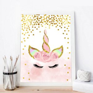 canvas unicorn decorative 50x75cm price