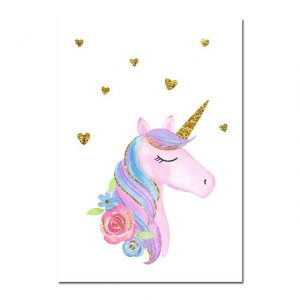 canvas unicorn in love a3 30x42cm buy