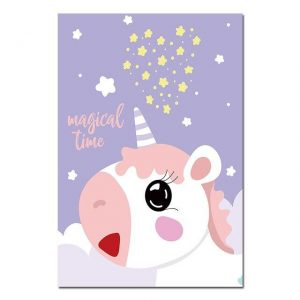 canvas unicorn kawaii 60x90cm buy