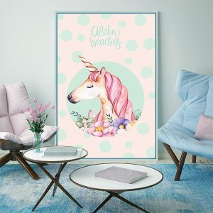 canvas unicorn living room 50x70cm