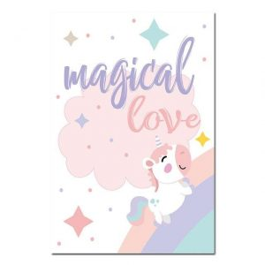 canvas unicorn magical love 60x90cm canvas unicorn