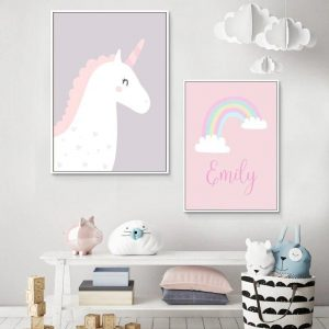 canvas unicorn mural 50x70cm canvas unicorn