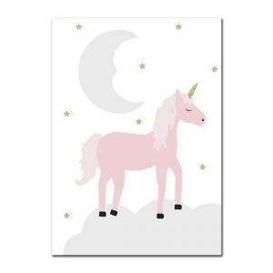 canvas unicorn of night 30x42cm unicorn toys store