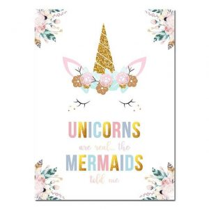canvas unicorn phrasing funny 15x20cm unicorn toys store