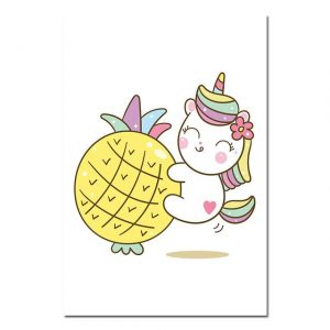 canvas unicorn pineapple 60x90cm price
