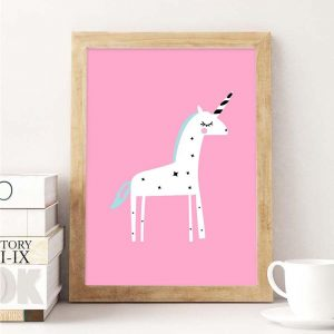 canvas unicorn pink 70x100cm at sell