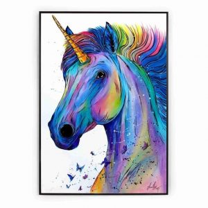 canvas unicorn powerful 60x90cm not dear