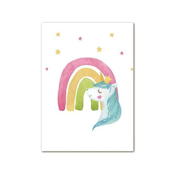 canvas unicorn simple 50x70cm not dear