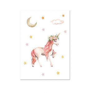 canvas unicorn star 50x70cm price